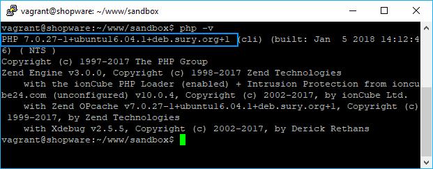 PHP 7.0 Ubuntu php -v