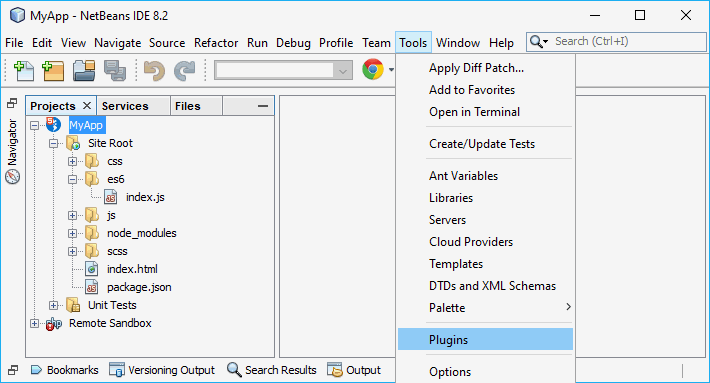 NetBeans Plugin Manager How to Open