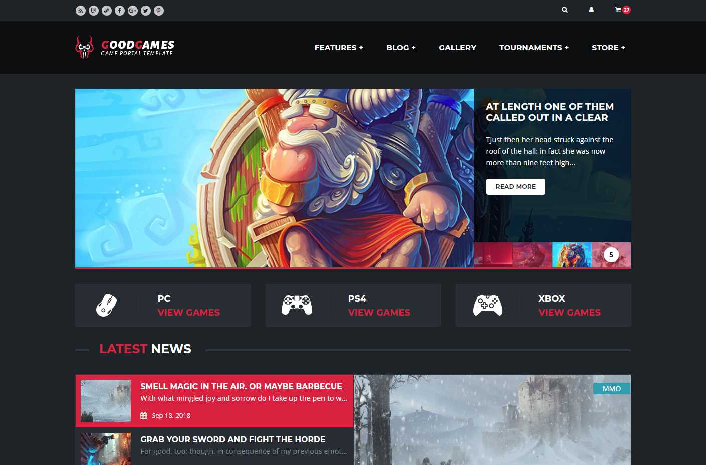 Good Games HTML Template