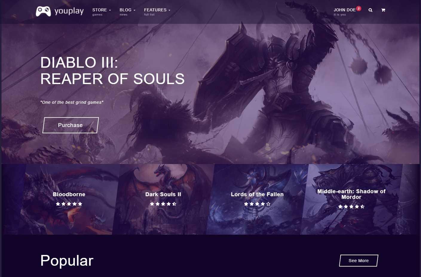 YouPlay Premium HTML Template