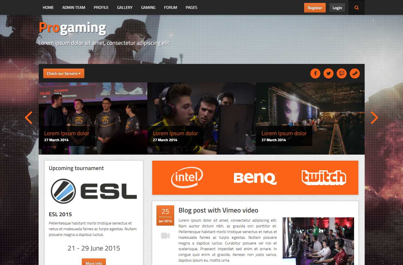 ProGaming HTML Template