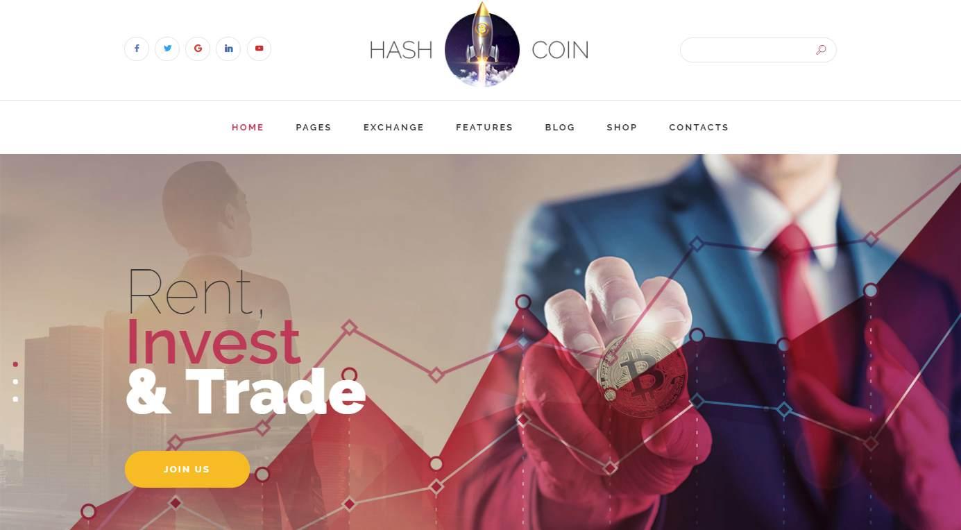HashCoin Plus HTML Premium Template