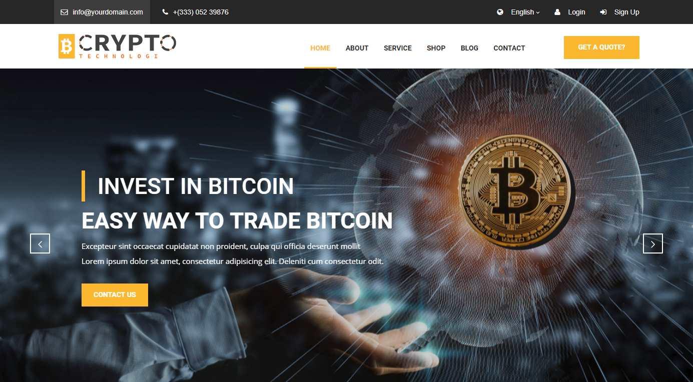 Crypto Bitcoin Premium HTML Template