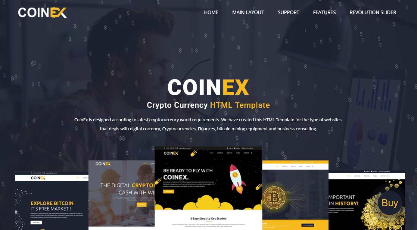 Coinex Premium HTML Template