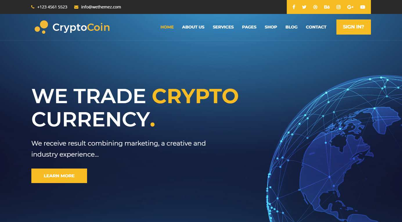 CryptoCoin Premium HTML Template