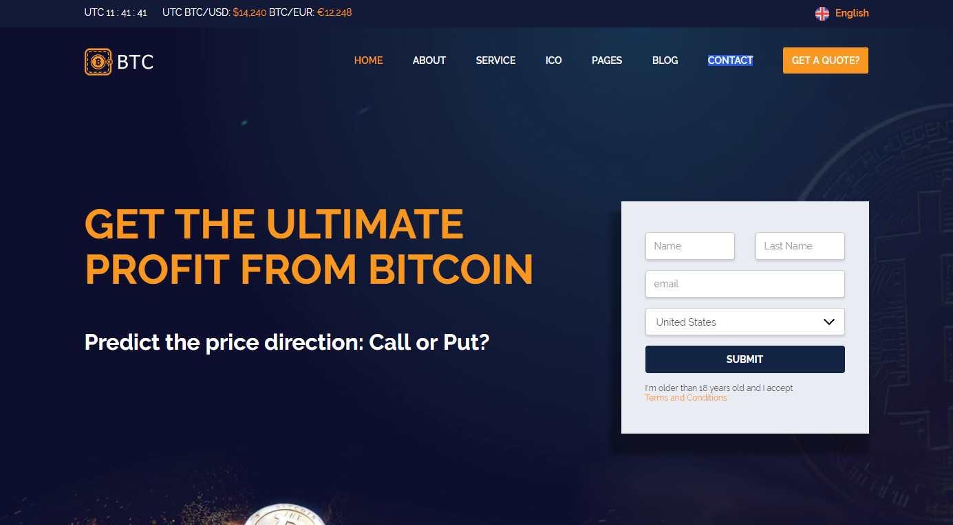 BTC Premium HTML Template