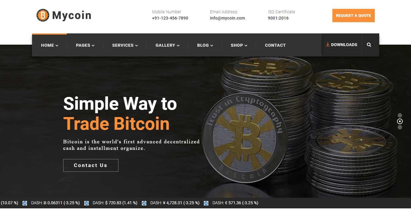 MyCoin Premium HTML Template