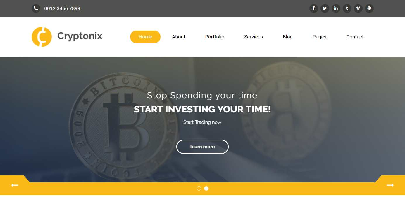 Top 10: Best Premium Cryptocurrency Related HTML Templates | Our ...
