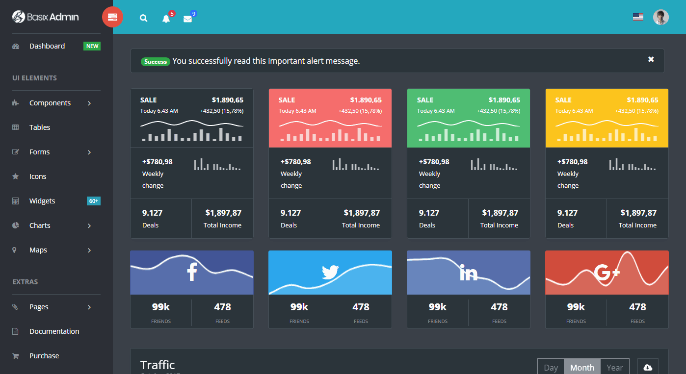 Basix Premium Admin Template