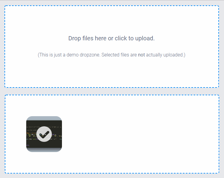 Dropzone File Uploader