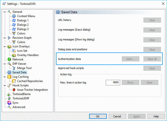 SVN Tortoise Settings