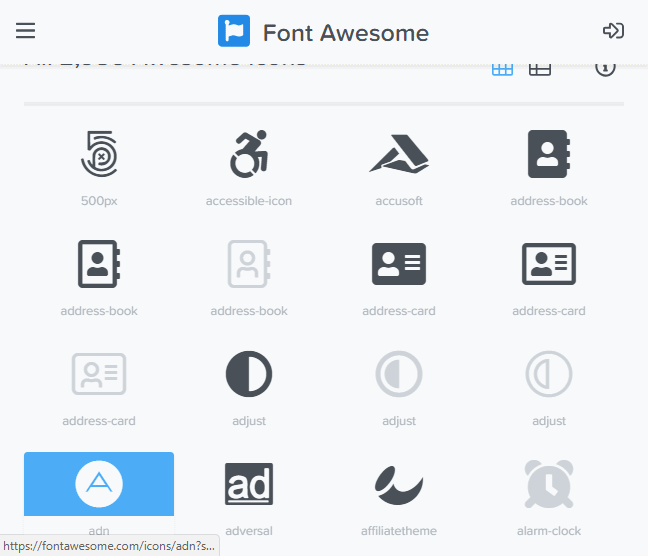 Font Awesome 5 & 4