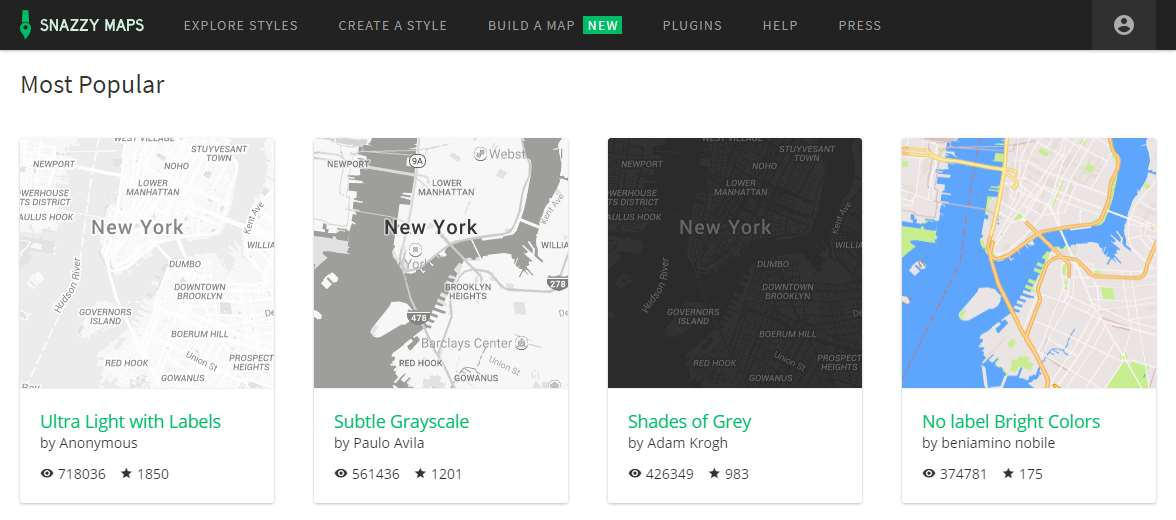 Snazzy Maps Custom Google Maps Themes