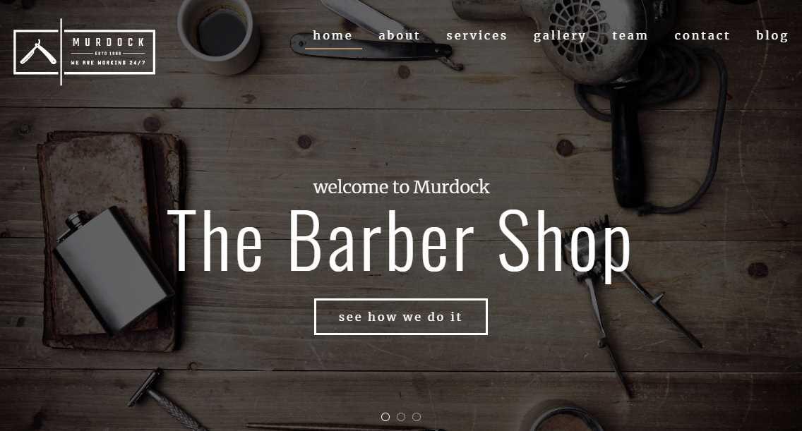 top 10 best premium barbershop website templates our. Black Bedroom Furniture Sets. Home Design Ideas