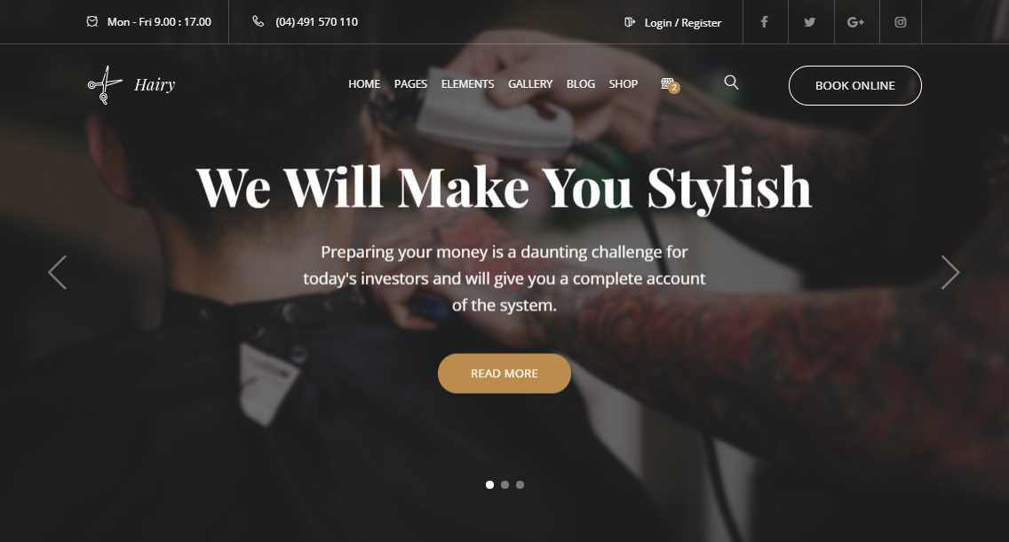 Hairy Barbershop Template