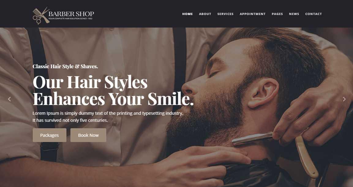 BarberShop Template & Hair Salon