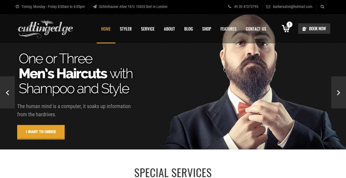 Top 10 Best Premium Barbershop Website Templates