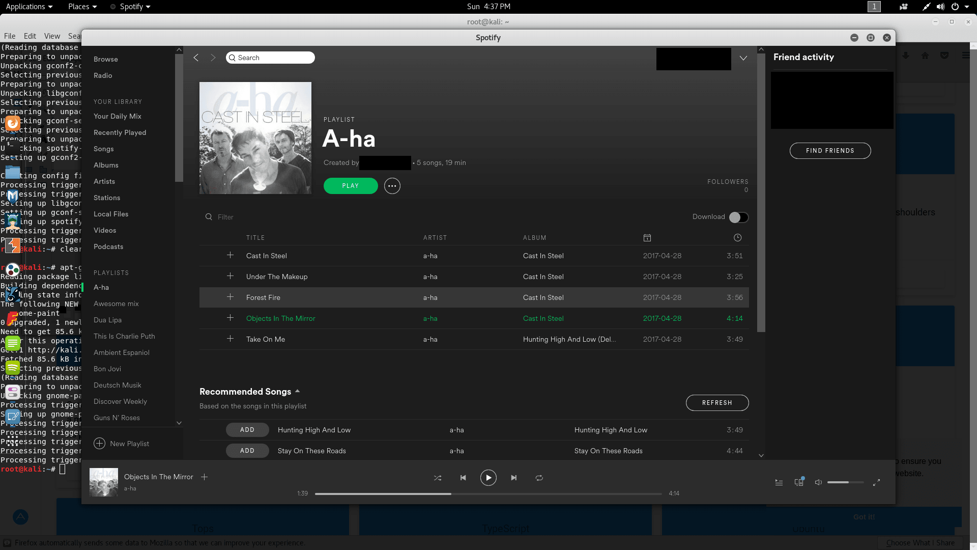 Spotify Desktop on Kali Linux