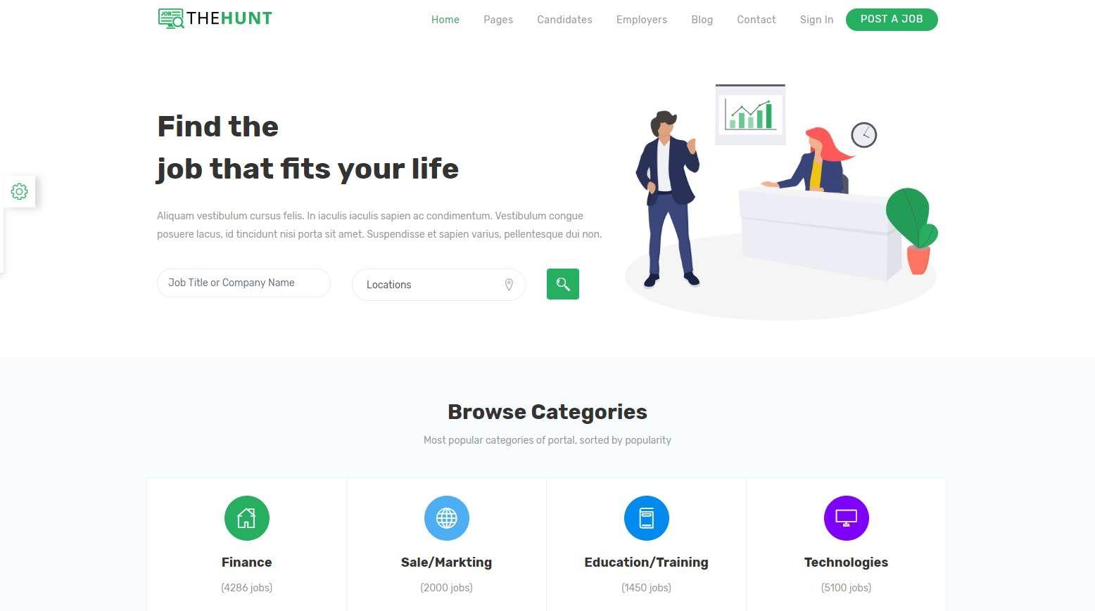 top 10 best premium job portal html templates our code world