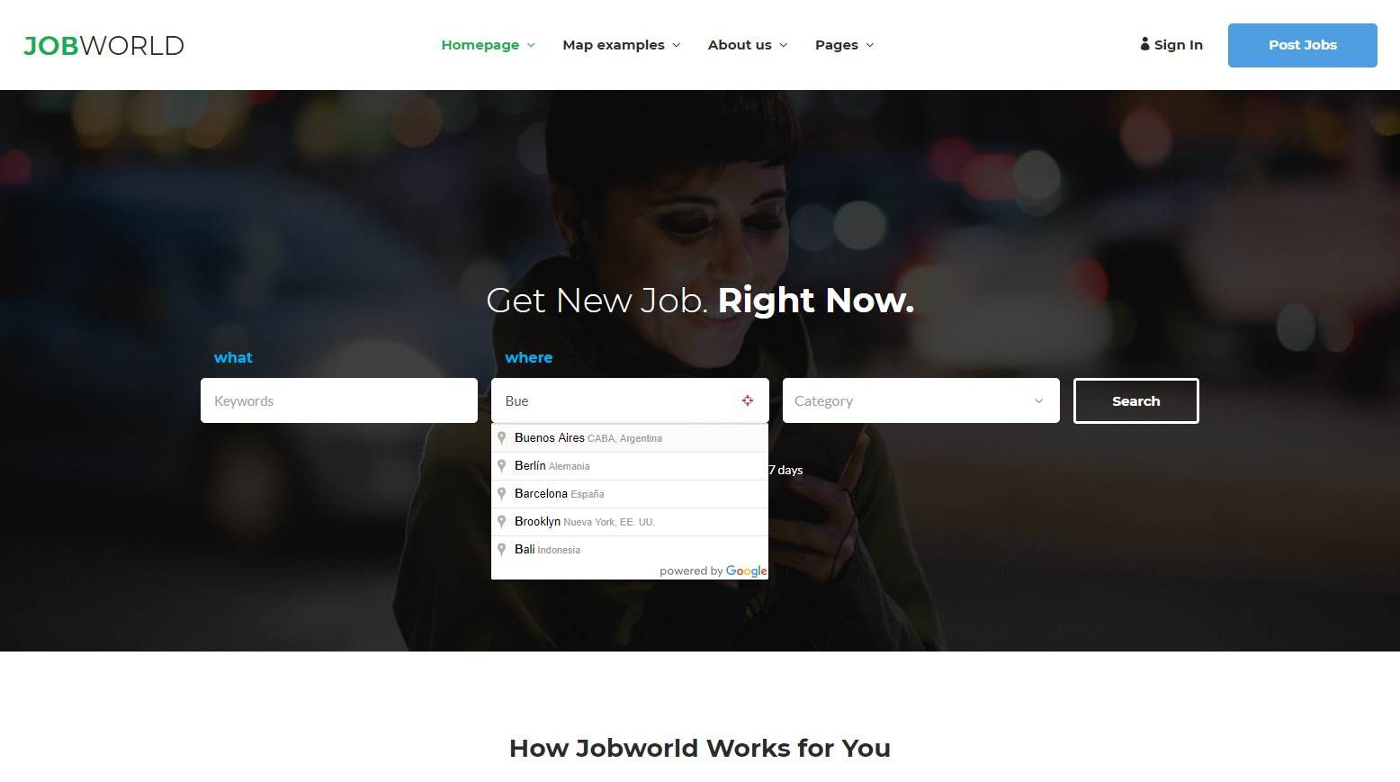 Job World Premium Job Portal Template