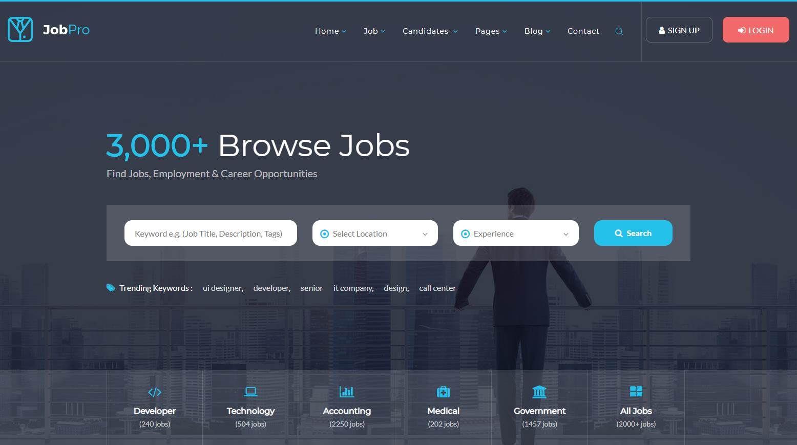 Job Pro Premium Job Portal Template