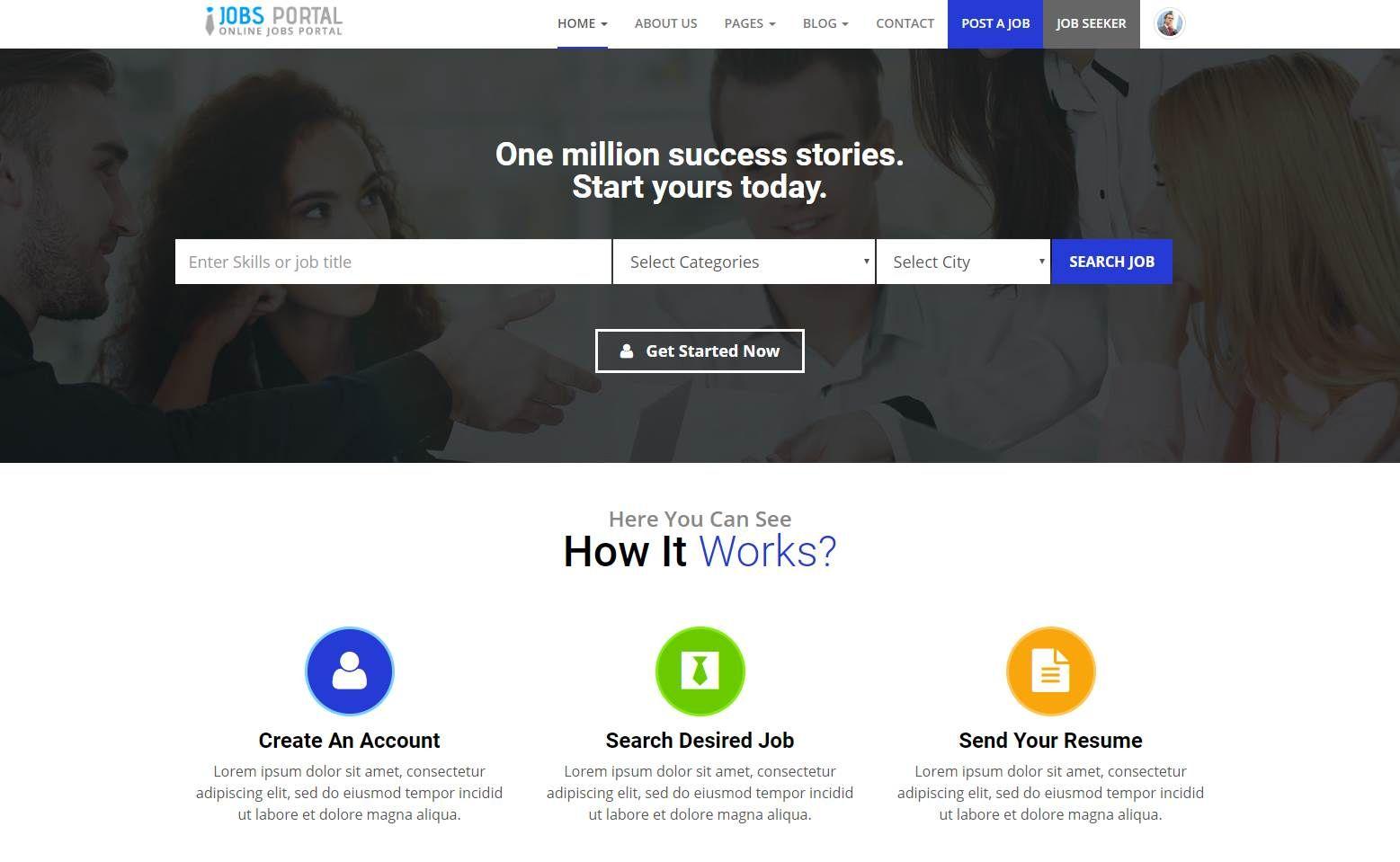 Jobs Portal Premium Job Portal Template