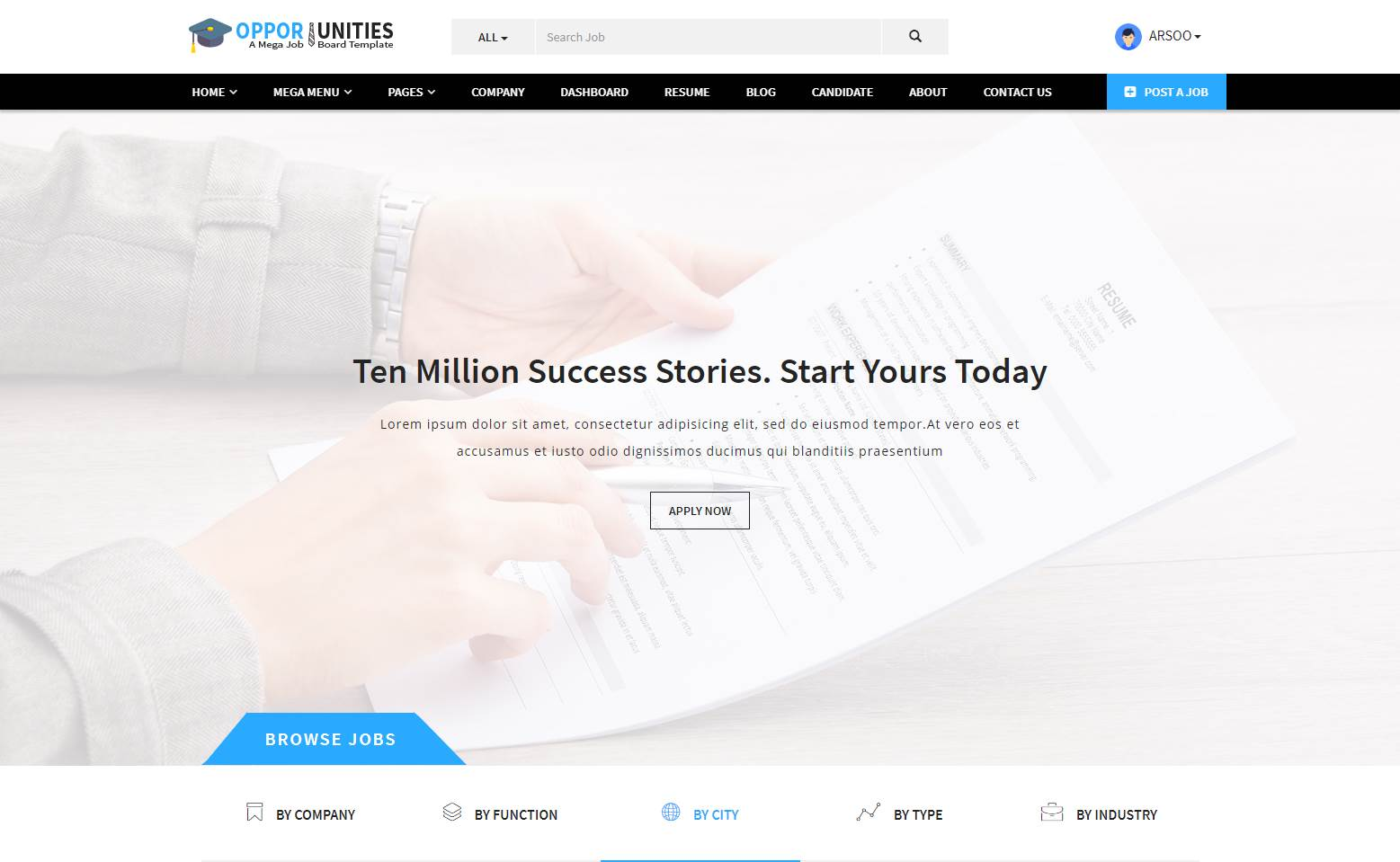 Opportunities Jobs Portal Template