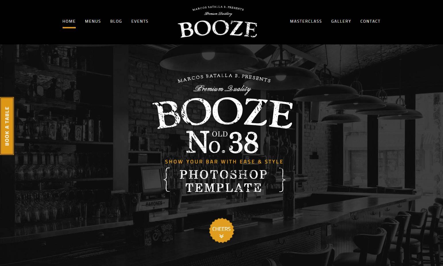 Booze Pub Premium HTML Template