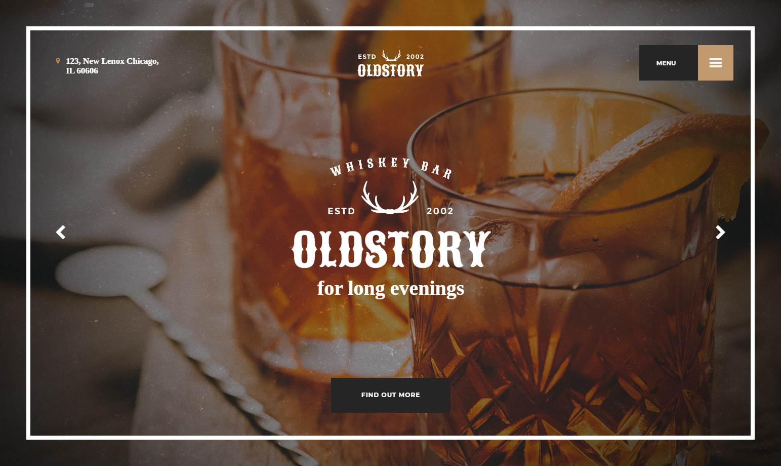 OldStory Whisky Bar Premium HTML Template