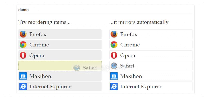 Ractive Sortable Plugin JavaScript