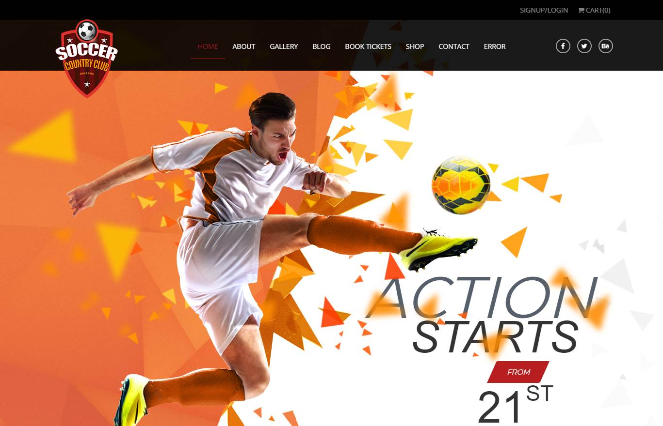 Soccer Club Premium Website Template