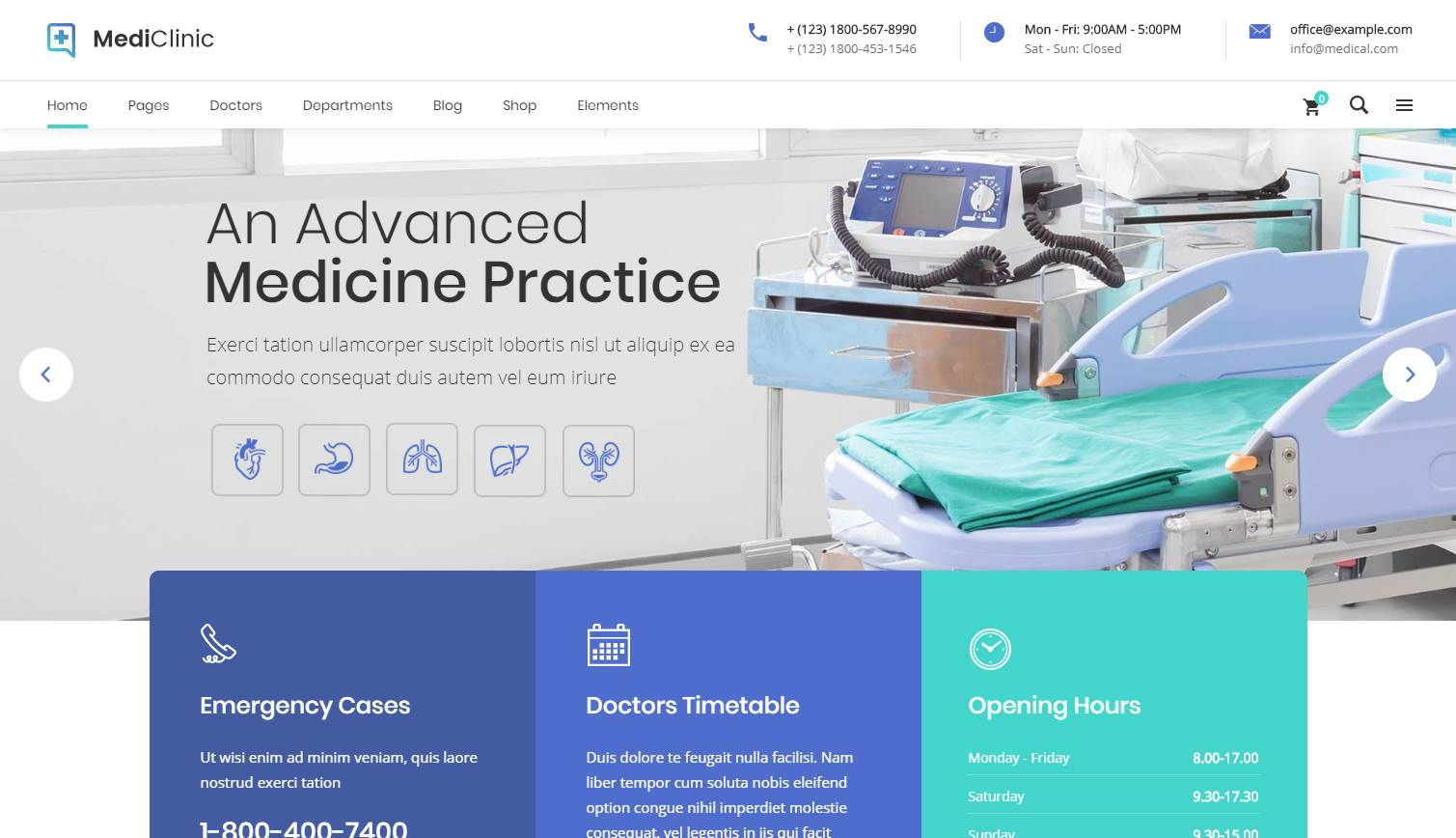 Mediclinic Premium Wordpress Template