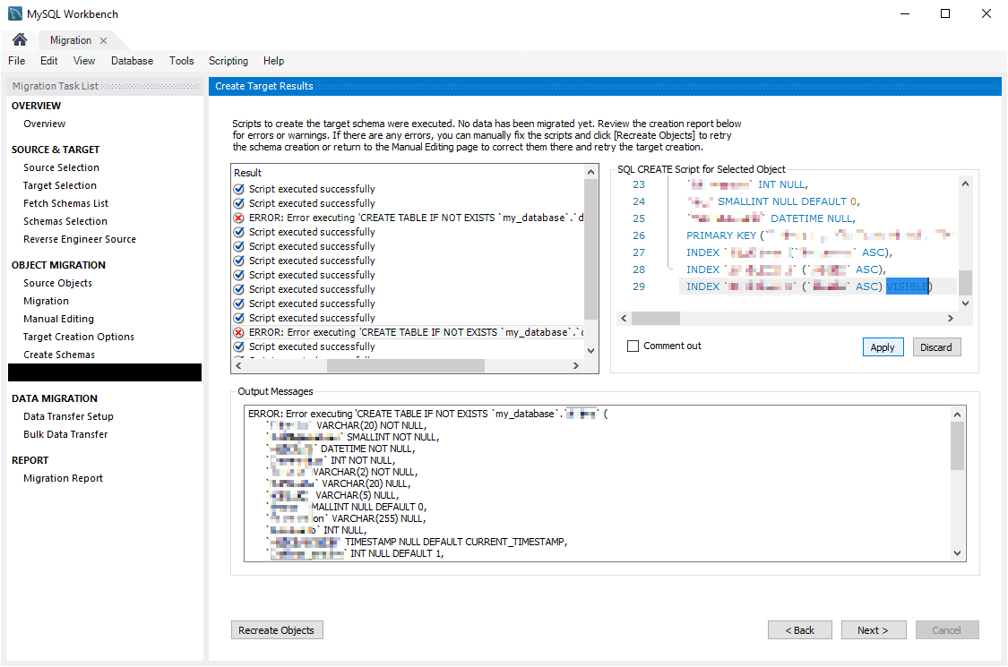 Fix MySQL Workbench Syntax Error