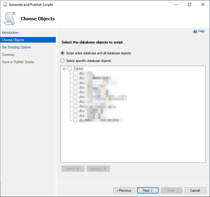 Export Tables MS SQL Server Management Studio
