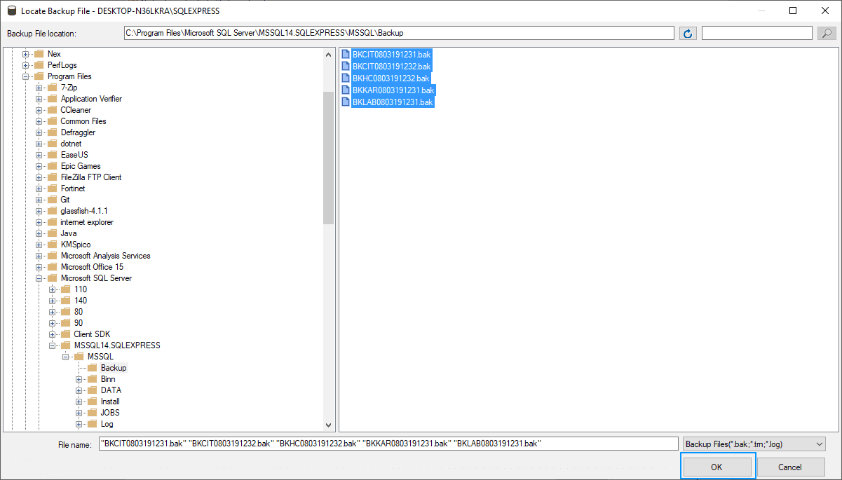 SQL Server Filebrowser