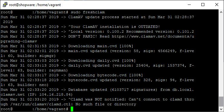 Update ClamAV Database