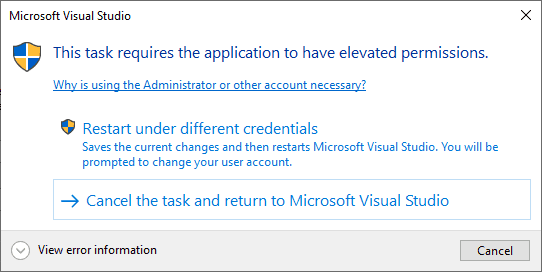 Visual Studio C# WinForms Administrator Rights Application