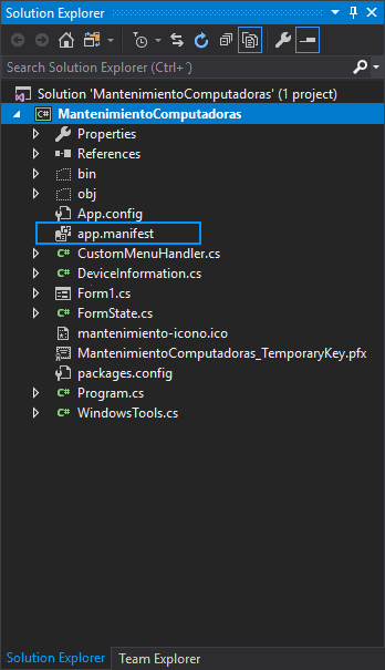 How to force a C# based WinForms applications to run with