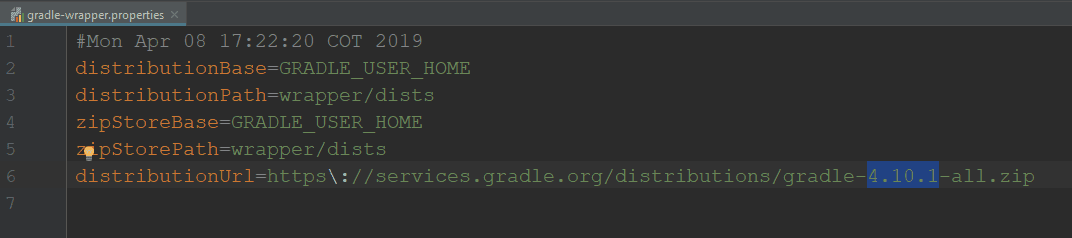 Gradle Wrapper Properties File
