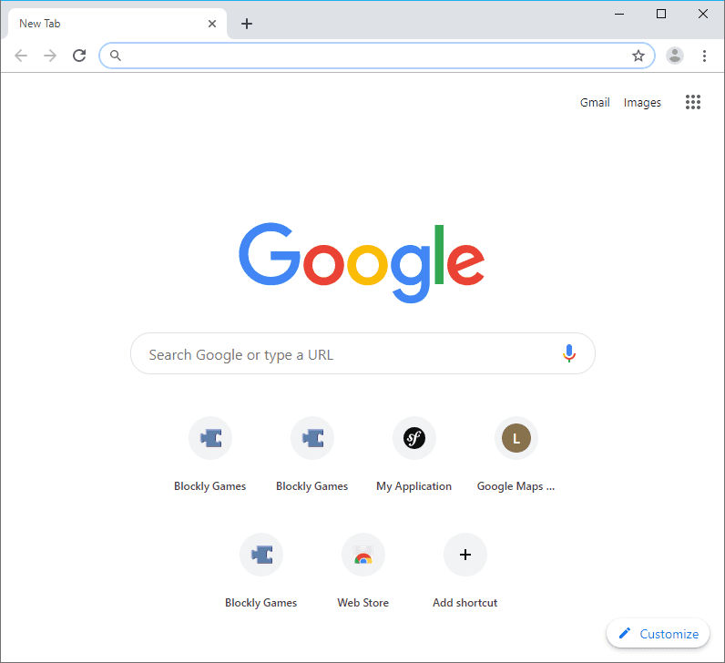 Index Chrome Page