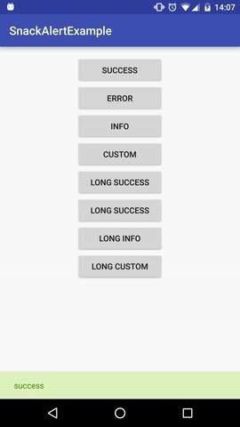 SnackAlert Android Snackbar library
