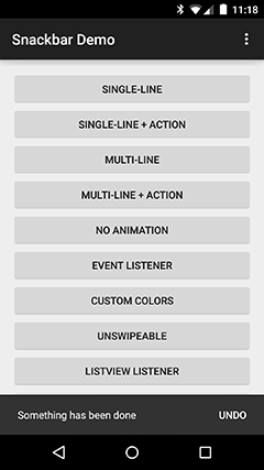 Android Snackbar Nispok