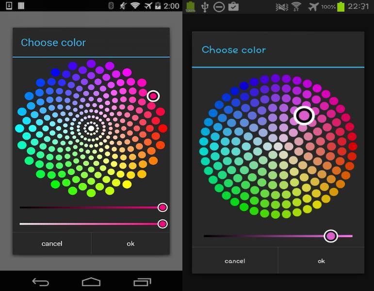 QuadFlask Colorpicker Android Demo
