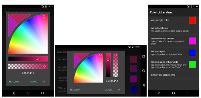 hsv-alpha ColorPicker Android