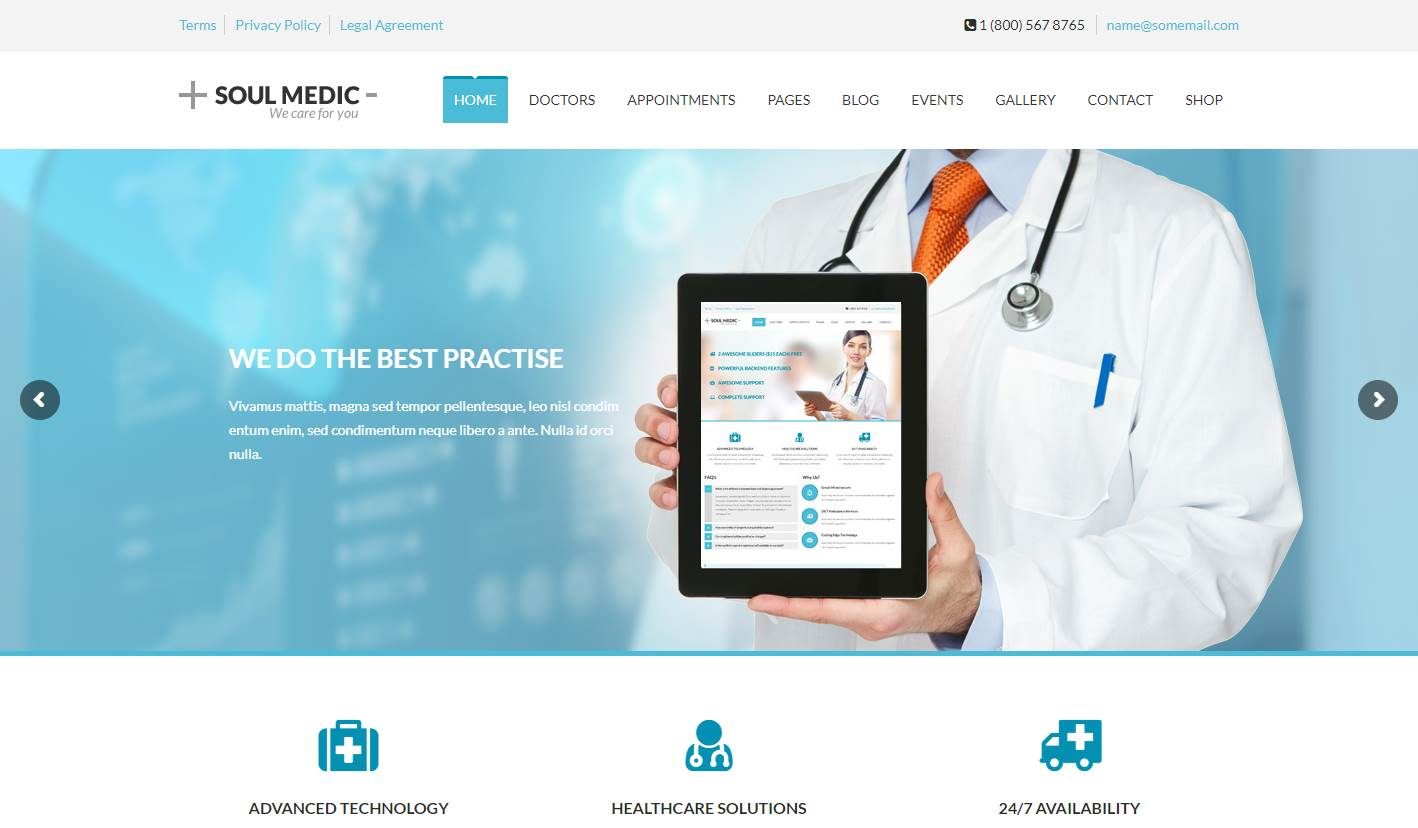 Soulmedic Premium Medical Wordpress