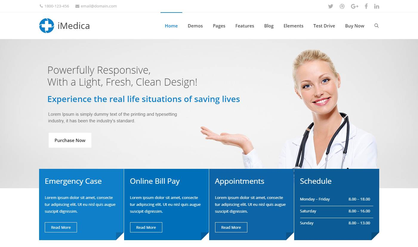 iMedica Premium Wordpress Template