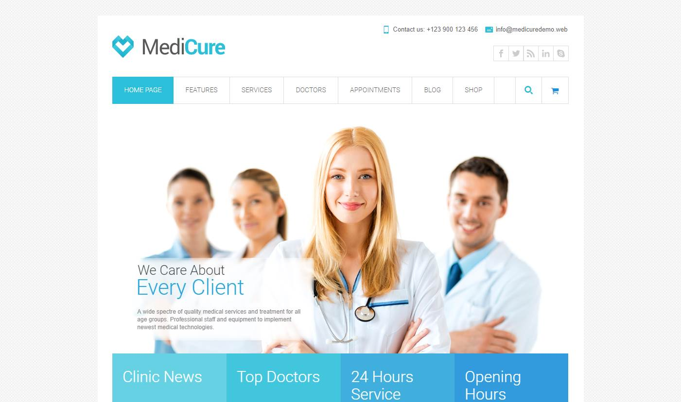 MediCure Wordpress Premium Template