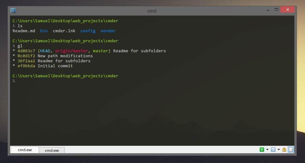 CMDER Windows Terminal