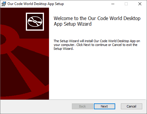 WiX Setup MSI File