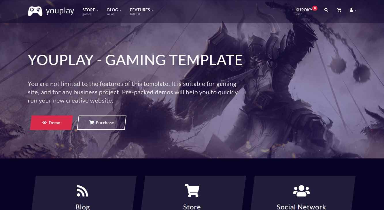 YouPlay Premium eSports Gaming Template